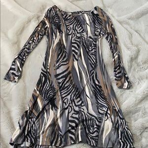 Michael Tyler printed dress